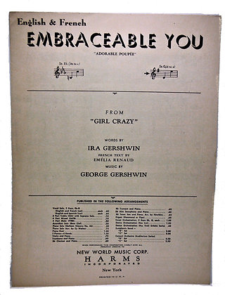 Embraceable You (English & French) by Gershwin 1949