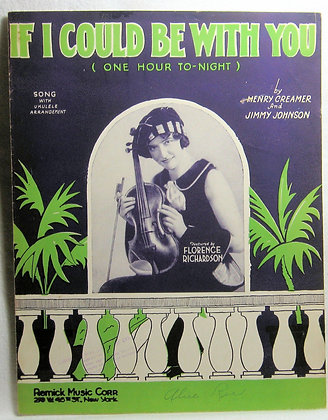 IF I COULD BE WITH YOU 1936
