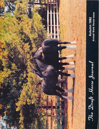 Draft Horse Journal Autumn 1992