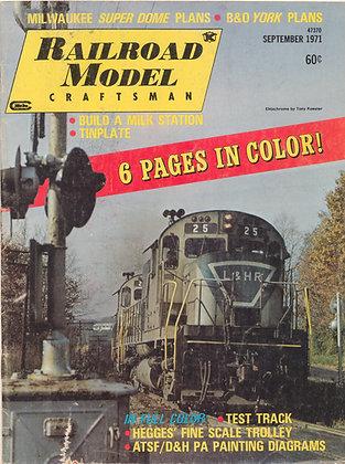 Railroad Model Craftsman, Sept. 1971