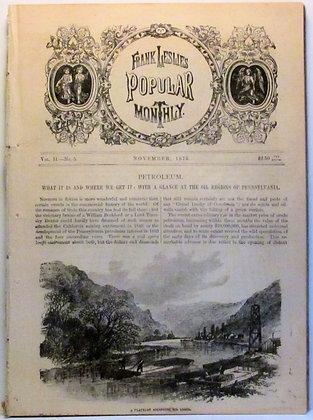 Frank Leslie's Popular Monthly. Nov. 1876 (Petroleum)