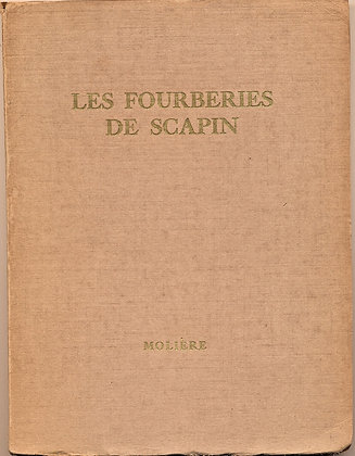 Les Fourberies de Scapin Comedie by Moliere 1913 (French)