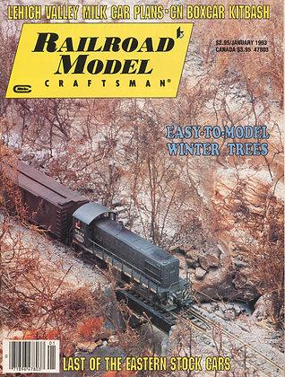 Railroad Model Craftsman, January 1993