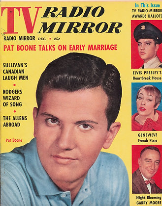 TV Radio Mirror, PAT BOONE, December 1958