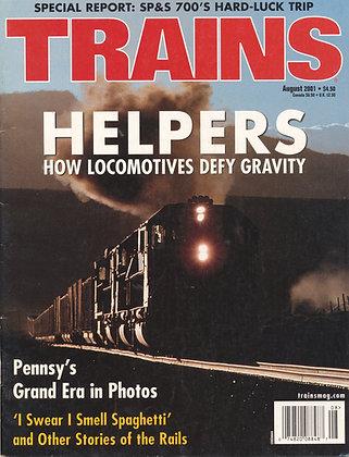 TRAINS, August 2001