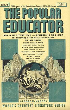 POPULAR EDUCATOR (#4, Second Year, 1939) THE LAST PURITAN