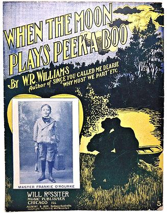 When The Moon Plays Peek-A-Boo 1907