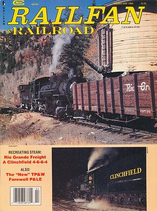 RAILFAN & RAILROAD FEBRUARY 1993