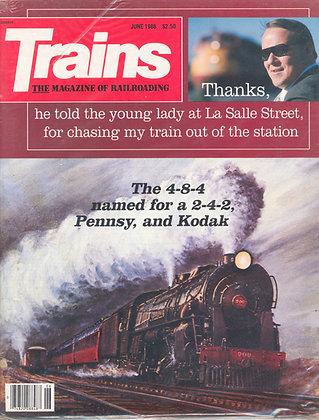 TRAINS, June 1986