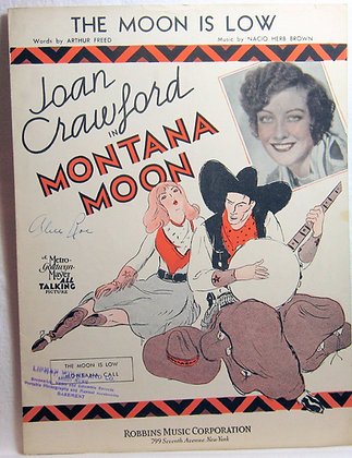 "THE MOON IS LOW Joan Crawford in ""Montana Moon"" 1930"