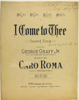 I Come to Thee (Sacred Song) 1907