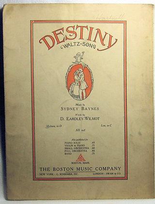 DESTINY Waltz-Song 1914