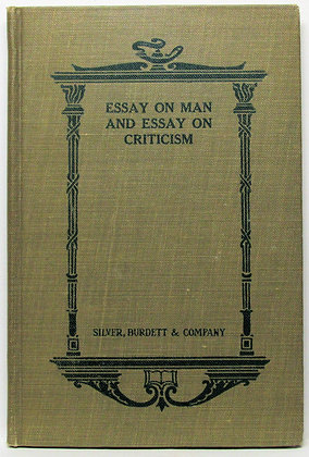POPE'S ESSAY ON MAN and ESSAY ON CRITICISM 1900 (Poetry)