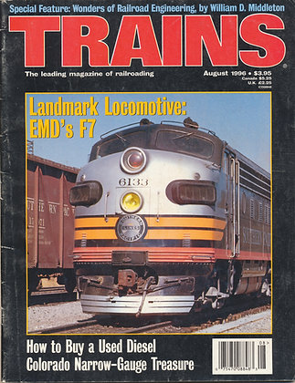 TRAINS, August 1996
