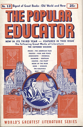 POPULAR EDUCATOR (#12 Third Year 1940) THE COVERED WAGON