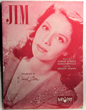 JIM Introduced by Dinah Shore 1941