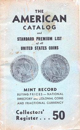 American Cat. Premium U.S. Coins 1940