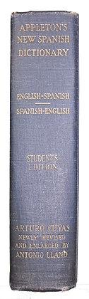 Appleton's New SPANISH-ENGLISH Dictionary (Student Edition) 1940