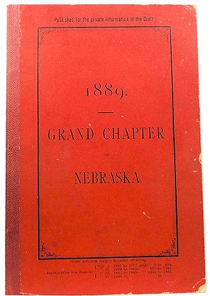 Grand Chapter Royal Arch Masons 1889 (Nebraska)