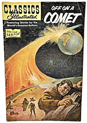 OFF ON A COMET #149, Classics Illustrated, Jules Verne 1965