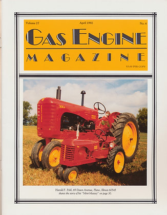 Gas Engine Mag.  April 1992