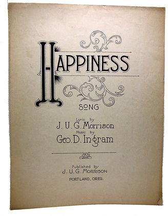 Happiness Song Portland Oregon 1920