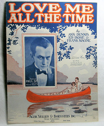 LOVE ME ALL THE TIME 1926