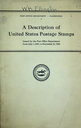 United States Postage Stamps 1937