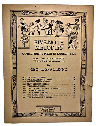 Five-Note Melodies (for Children) 1914
