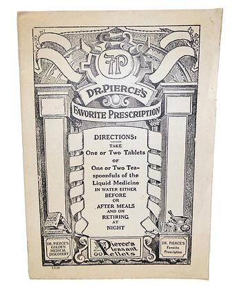 Dr. Pierce's Favorite Prescription ca. 1890
