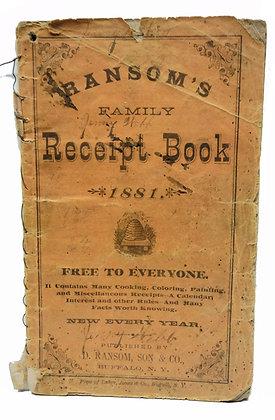 Ransom's Family Receipt Book 1881
