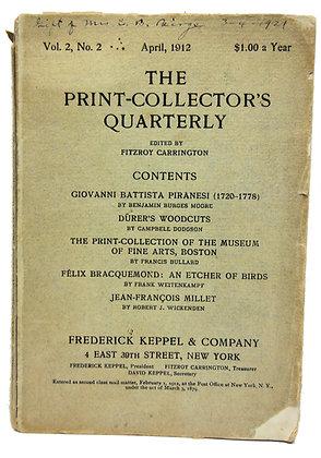 Print Collector's Quarterly April 1912