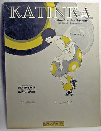 KATINKA (A Russian) Fox Trot-sky 1926
