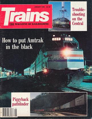 TRAINS, January 1986