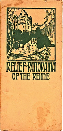 Relief-Panorama Rhine Fold-Out ca. 1920