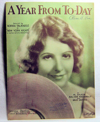 A YEAR FROM TO-DAY AL JOLSON 1929