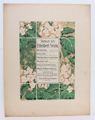 BED TIME SONG. Songs by Ethelbert Nevin 1899