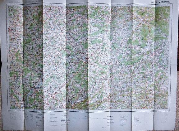 French WW1 Vesoul Army Map 1918