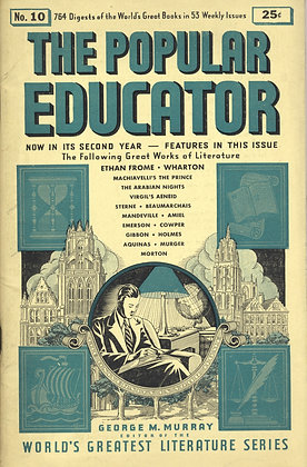 POPULAR EDUCATOR (#10, Second Year, 1939) ETHAN FROME - WHARTON