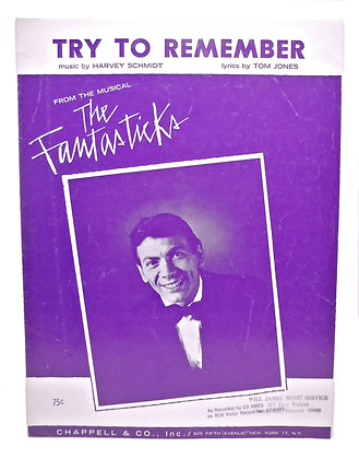 """Try to Remember """"The Fantasticks"""" 1960"""