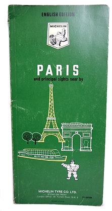 PARIS (Principal Sights Near By) Michelin 1968