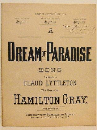 A DREAM OF PARADISE SONG CLAUD LYTTLETON ca. 1900