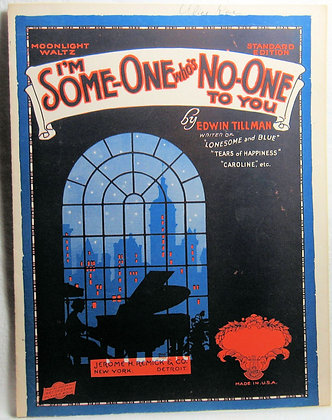 I'm Some-one Who's No-One to You (Moonlight Waltz) 1924