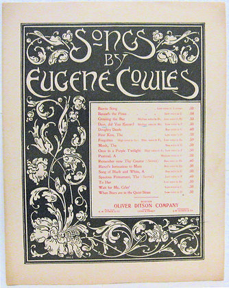 Dear did you Know?  Songs by Eugene Cowles 1906