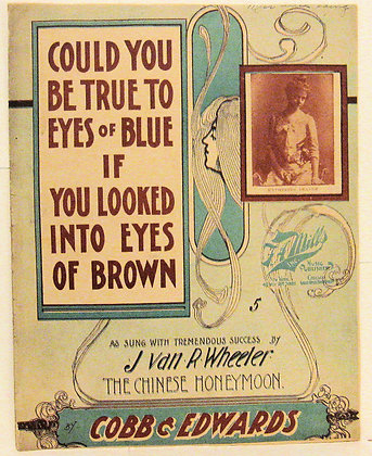 COULD YOU BE TRUE TO EYES OF BLUE 1902