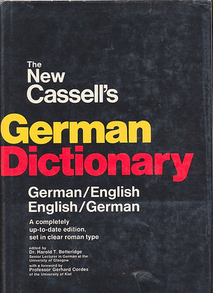 New Cassell's GERMAN Dictionary 1965 (German-English)