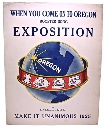 When You Come On To Oregon 1921