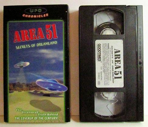 UFO Chronicles Area 51: SECRETS OF DREAMLAND 1996 VHS