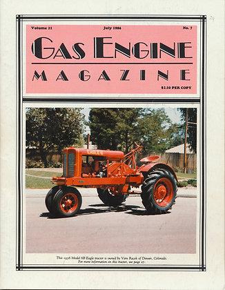 Gas Engine Mag.  July 1986