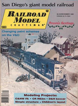 Railroad Model Craftsman, December 1985